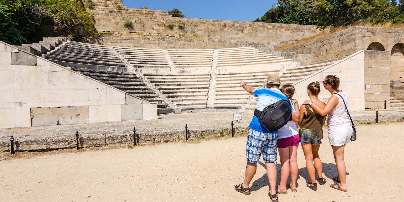 Die Akropolis von Rhodos