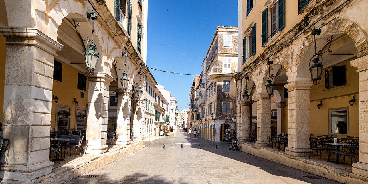 Altstadt von der Insel Korfu