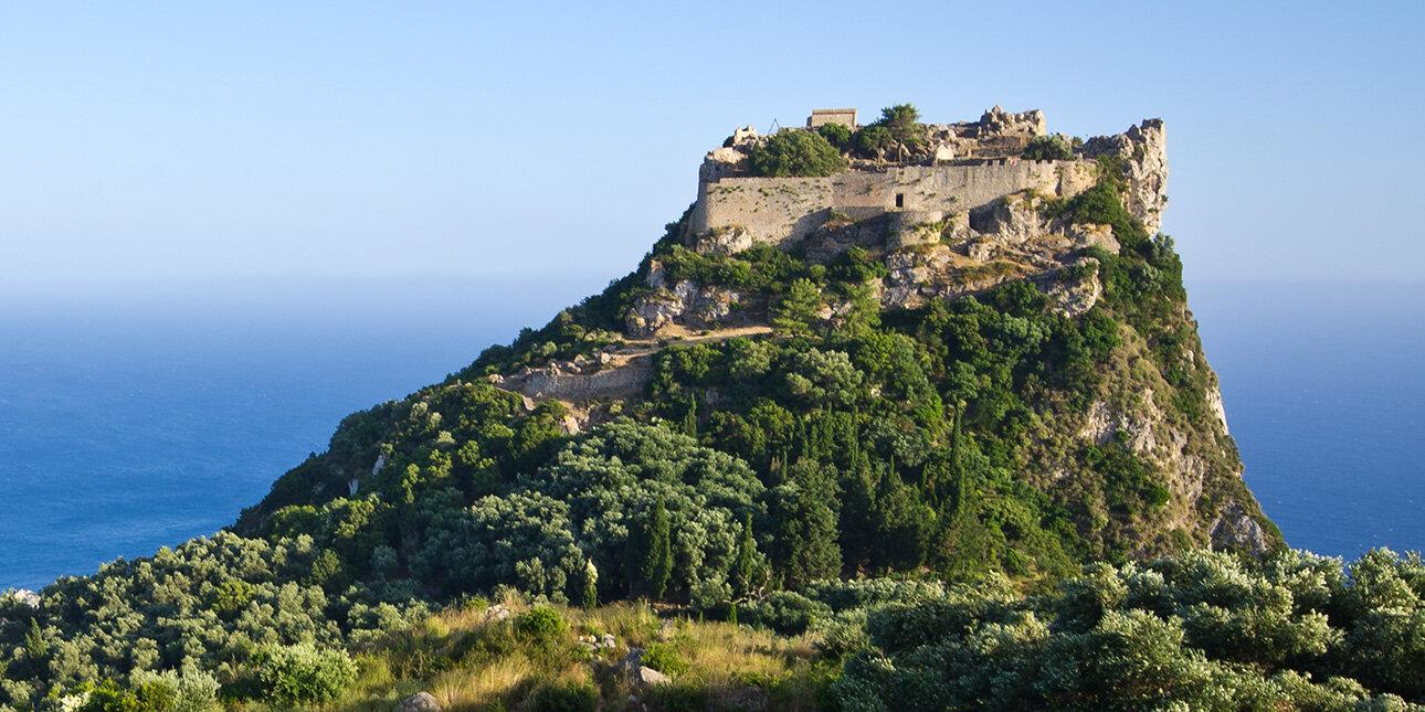 Angelokastro in Korfu, Griechenland