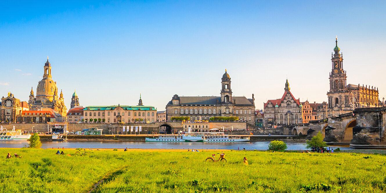 Dresden in Sachsen in Ostdeutschland