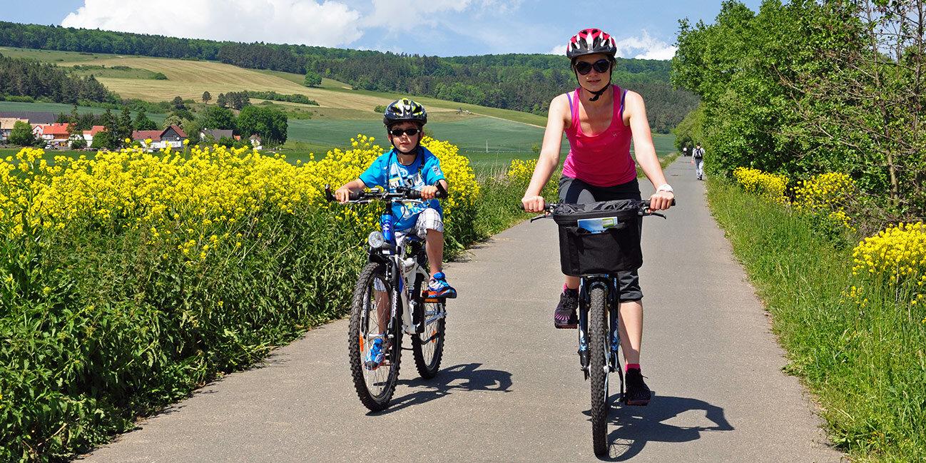 Fahrradfahren im Thüringer Wald