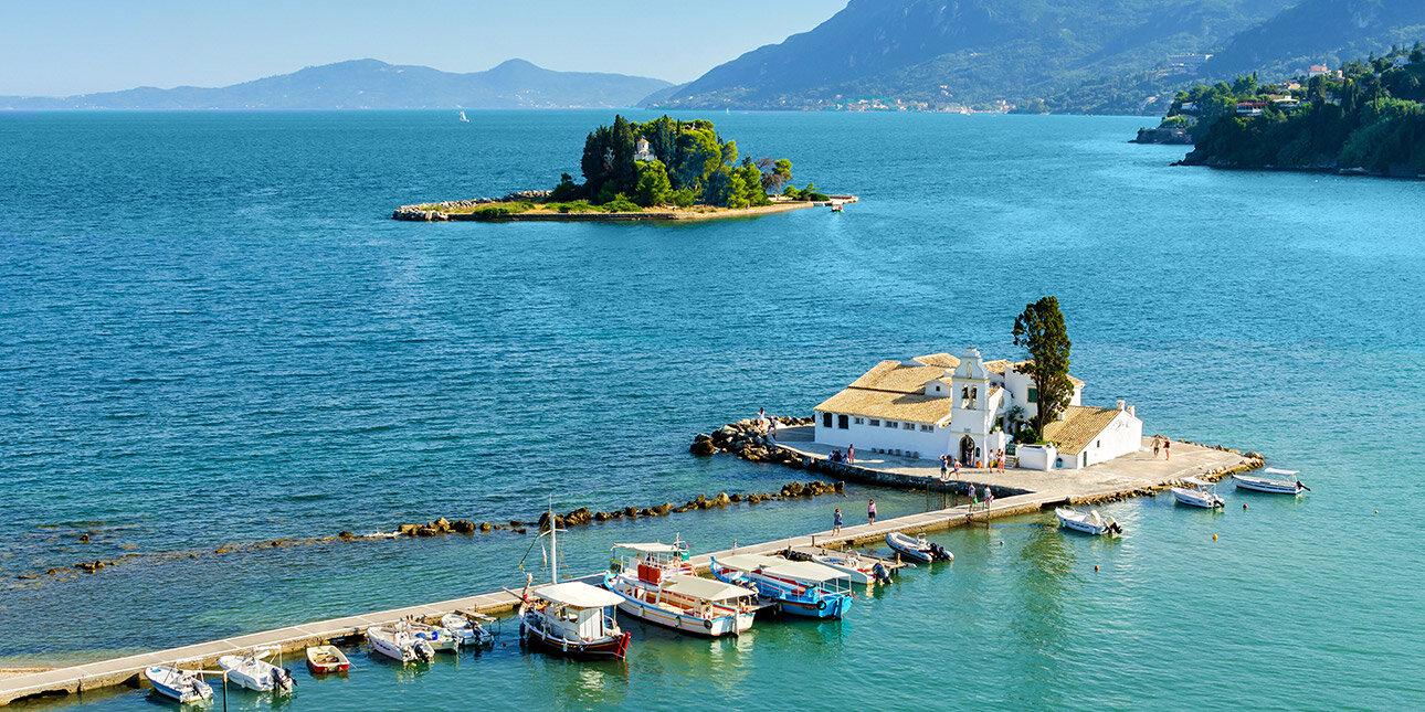 Die Klosterinsel von Korfu