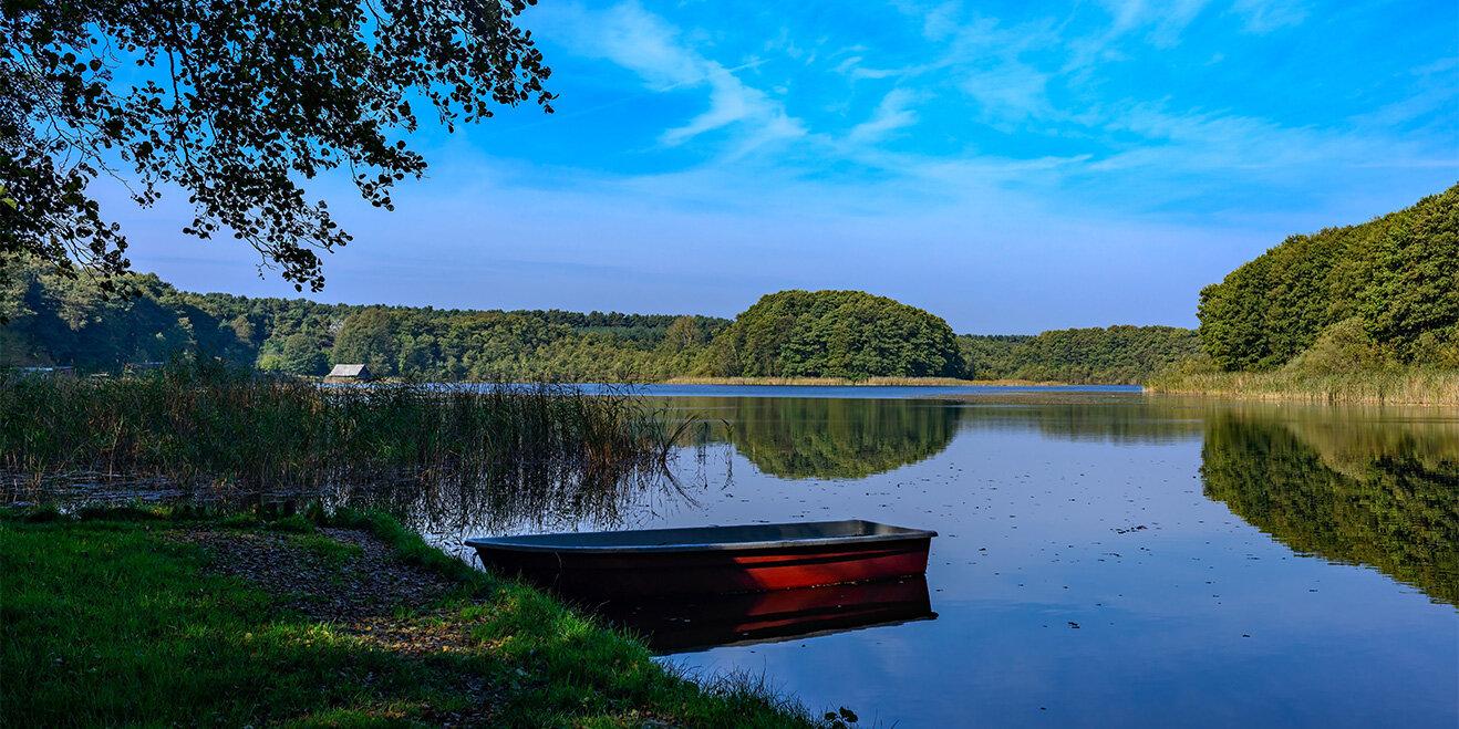 Der Labussee an der Mecklenburgischen Seenplatte