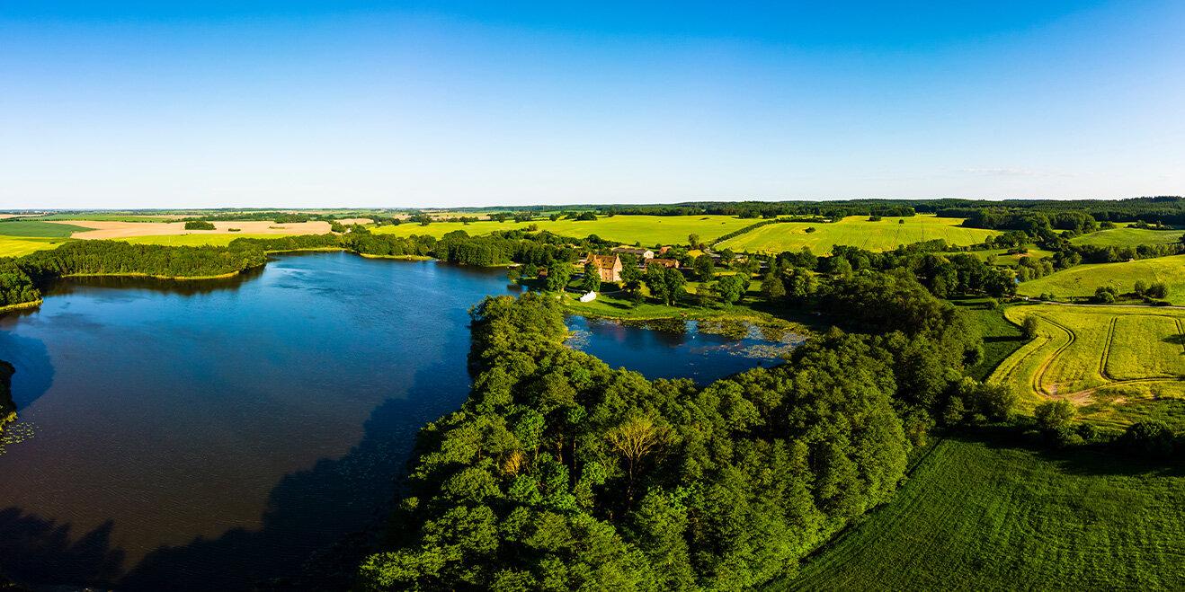 Blick auf die Mecklenburgischen Seenplatte