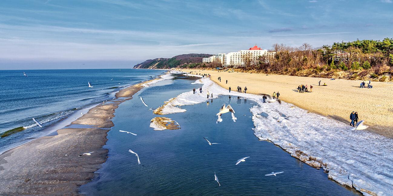 Misdroy Strand an der polnischen Ostsee