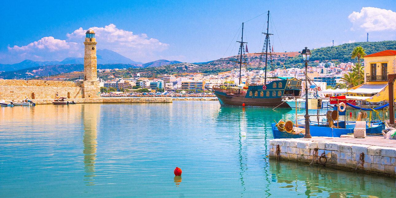 Der Hafen von Rethymno
