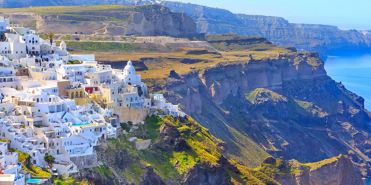 Stadt Fira auf Santorini