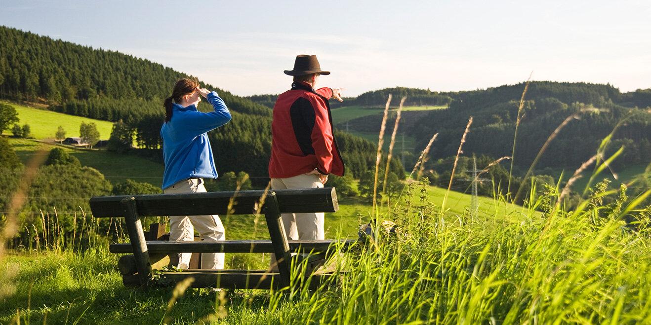 Aussicht vom Wanderweg Höhenflug im Sauerland