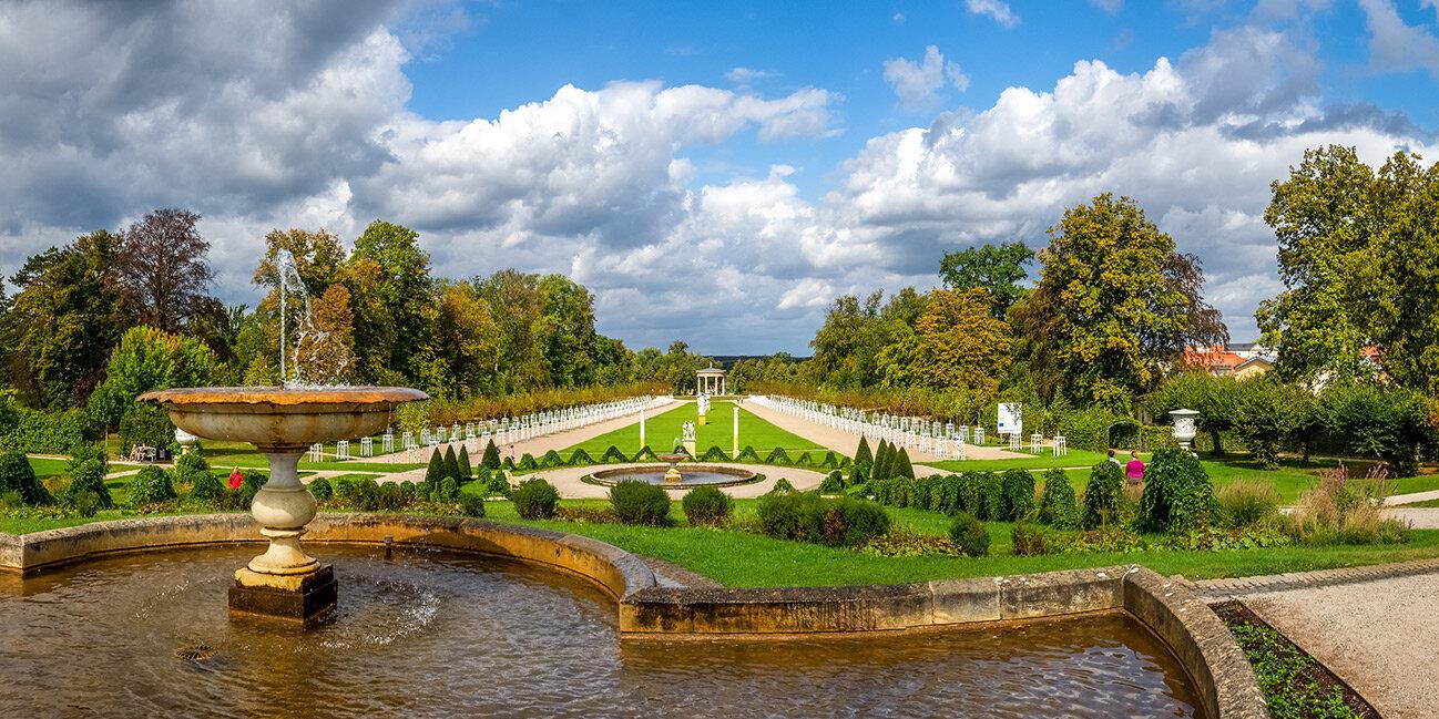 Schlossgarten von Neustrelitz am Zierker See