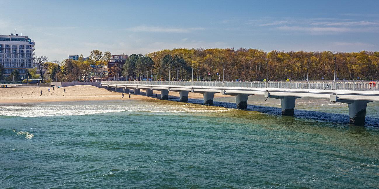 Seebrücke in Kolberg an der Polnischen Ostsee