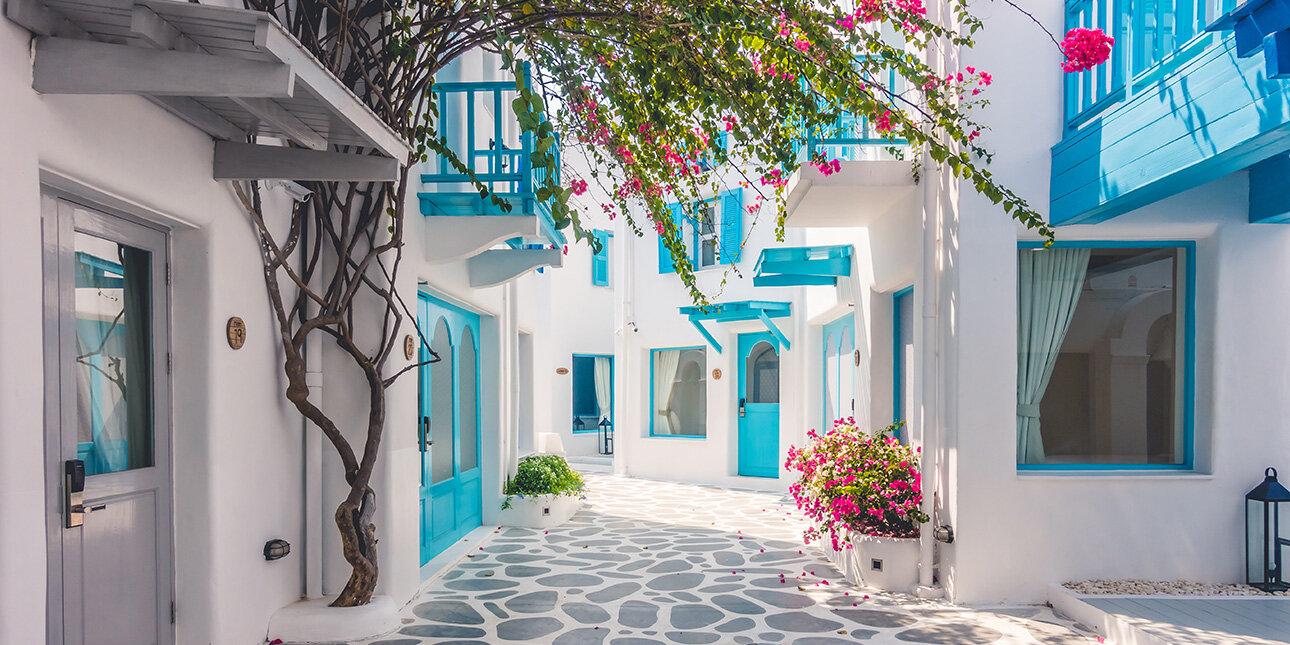 Straßen von Santorin