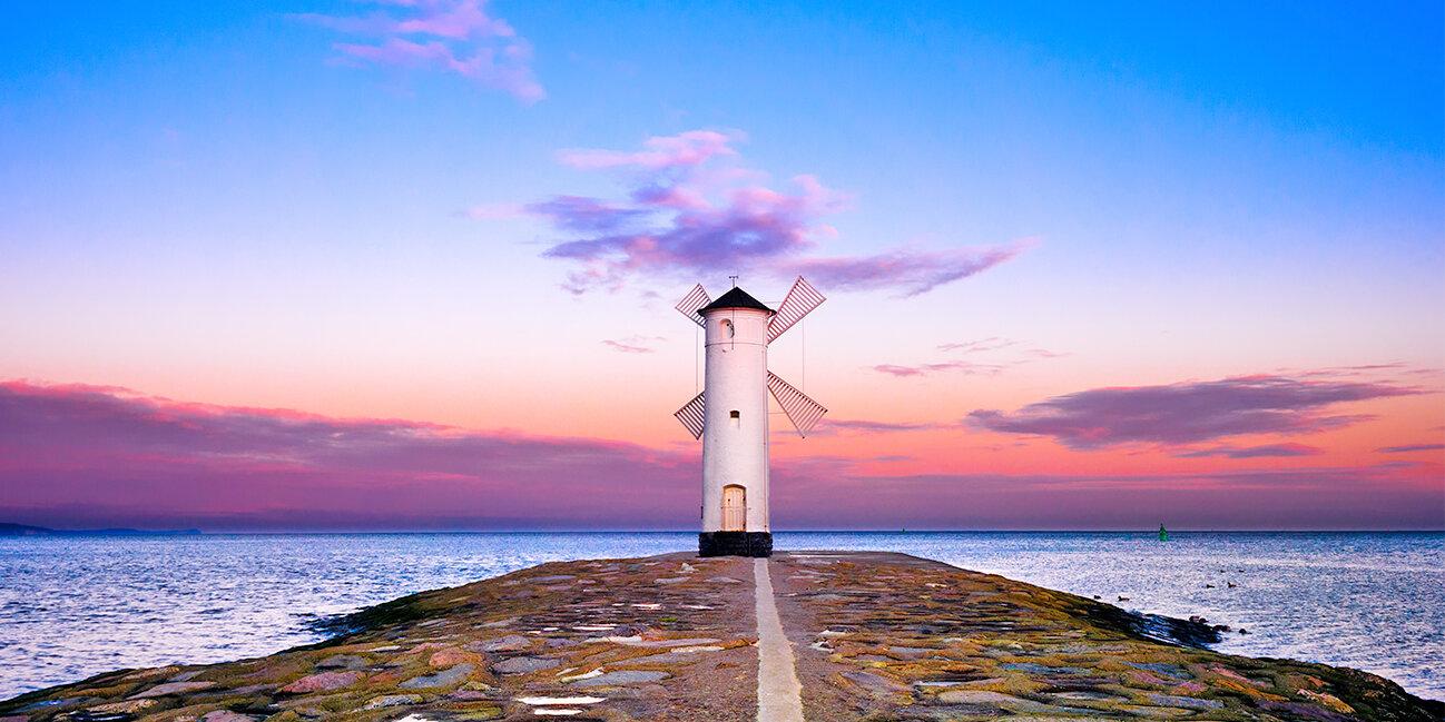 Swinemünde Leuchtturm an der polnischen Ostsee