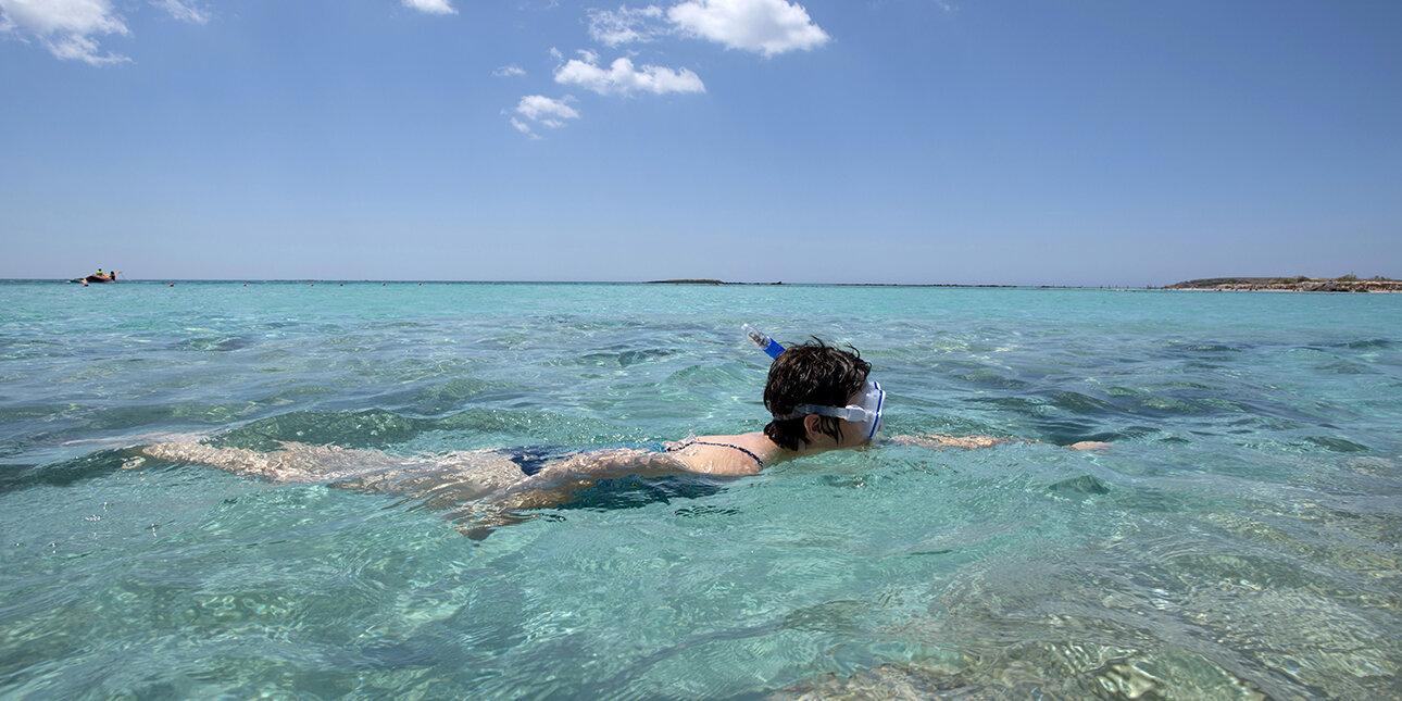 Tauchen an der Küste von Griechenland