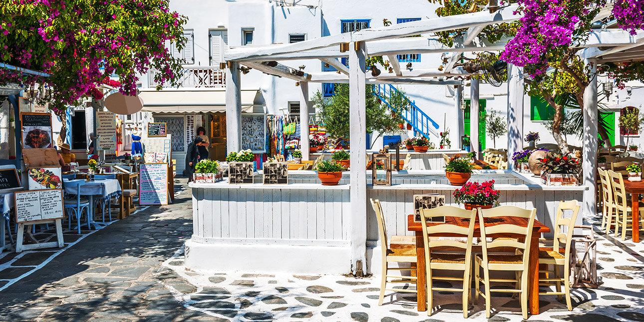Traditionelle Taverne in Mykonos