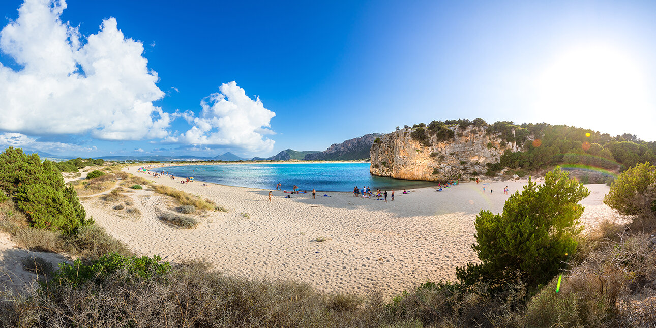 Voidokilia Strand von Peloponnes, Griechenland