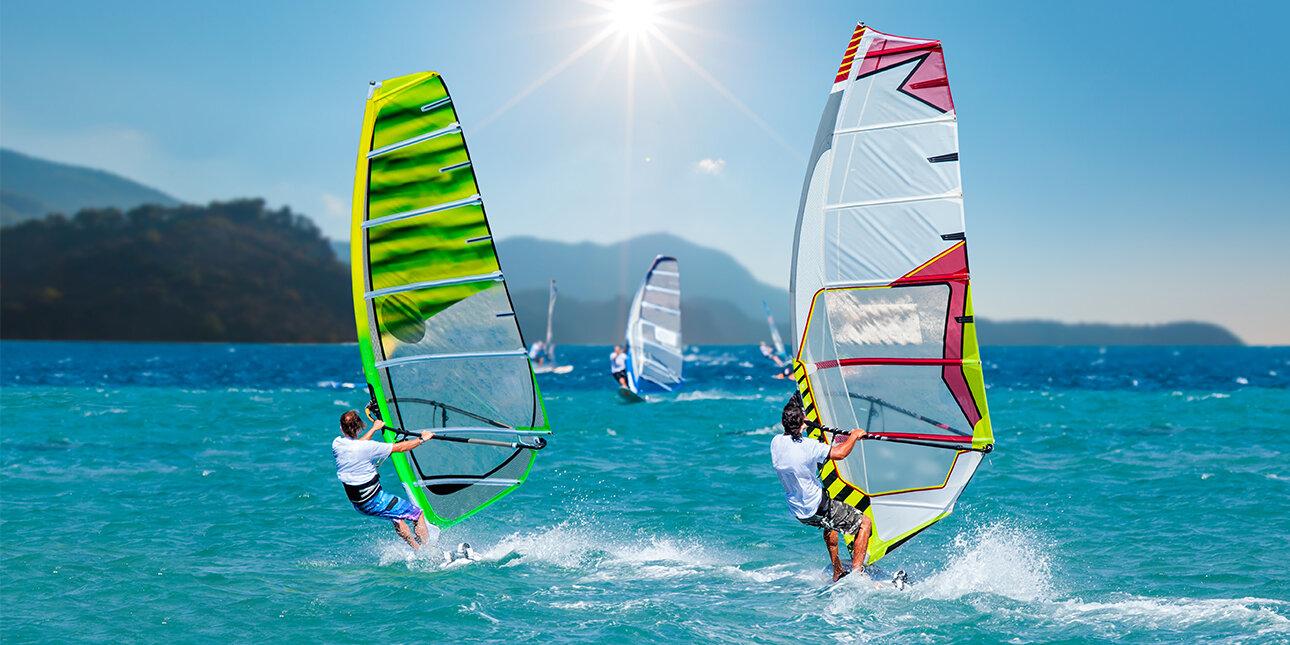 Windsurfing in Griechenland