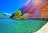 Mietwagenrundreise Norditalien, Riva del Garda in der Provinz Trentino am Gardasee