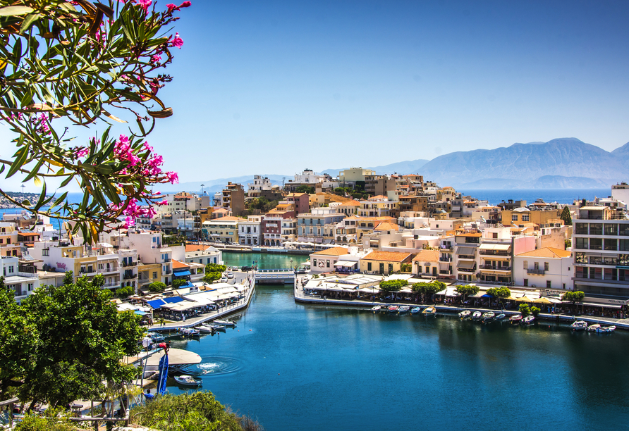 Oasis Beach Hotel in Anissaras, Süßwassersee Voulismeni in Agios Nikolaos
