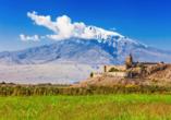 Während Ihrer Reise durch Armenien besuchen Sie zahlreiche Klöster wie das Kloster Chor Virap.