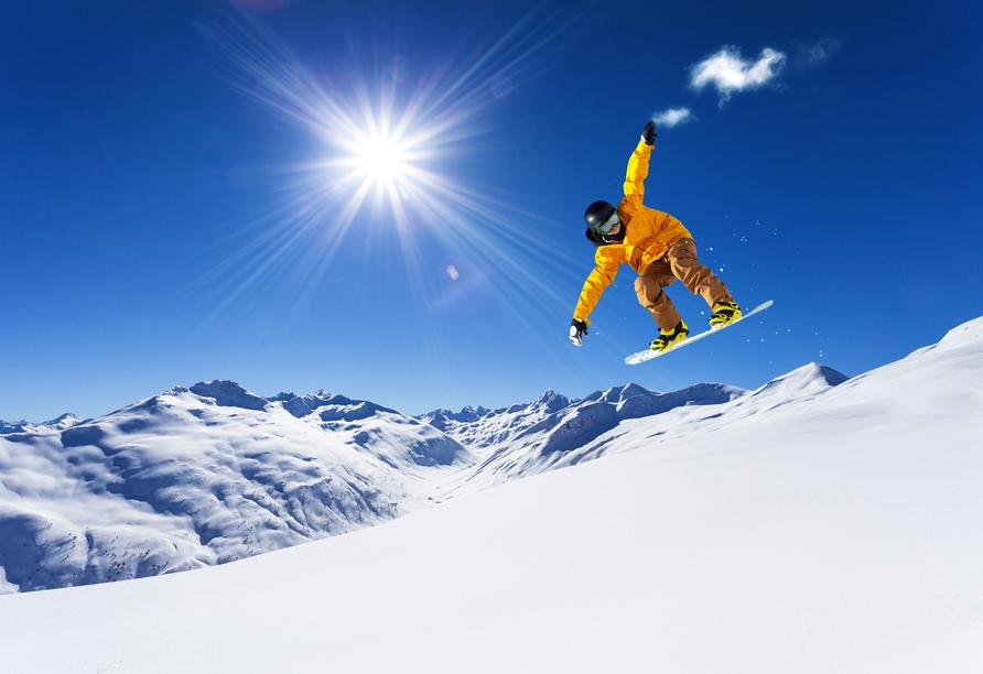 Hotel Bellevue Wiesen, Snowboarden