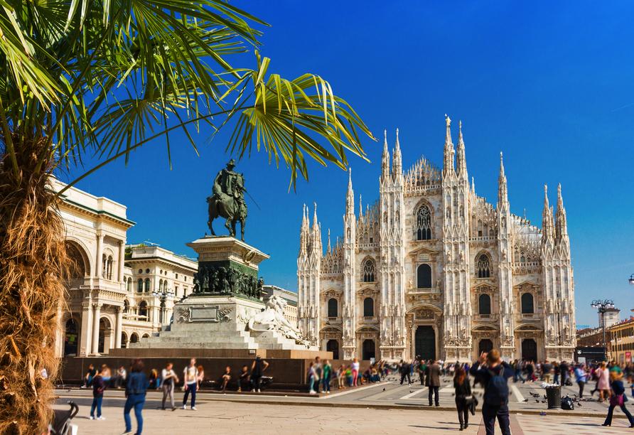 Auf Ihrem Weg lohnt sich ein Abstecher nach Mailand.