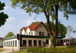 Außenansicht des Hotel Pension Zum Himmel in Rubenow an der Ostsee