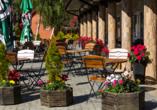 Hotel Bernstein in Dabki-Bobolin Ostsee Polen, Terrasse