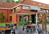 Hotel Waldkur, Leer, Ostfriesland, Außenansicht