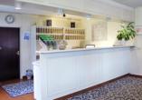 Hotel Waldkur, Leer, Ostfriesland, Rezeption