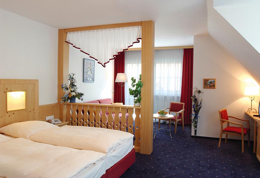 Landpension Postwirt in Kirchensittenbach in Mittelfranken, Zimmerbeispiel