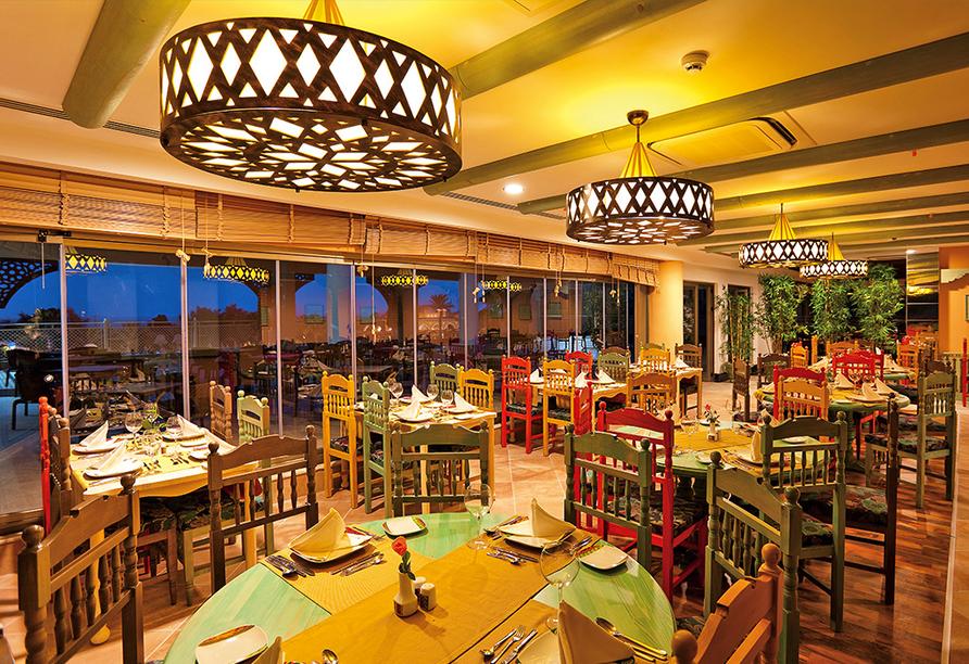 Das gemütliche Restaurant des Hotels Side Star Resort