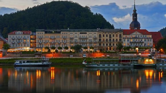 Hotel Elbresidenz an der Therme, Bad Schandau, Sächsische Schweiz, Außenansicht