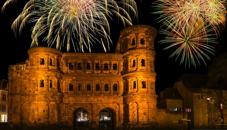 Schroeders Stadtwaldhotel in Trier, Frohes Neues Jahr