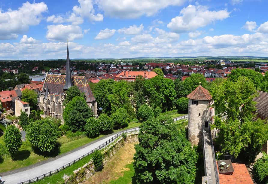 Hotel Stadt Mühlhausen in Mühlhausen in Thüringen Stadtübersicht