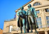 Kultur & Natur im Osten von Deutschland, Denkmal Goethe und Schiller