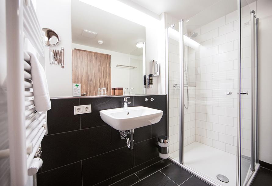 Hotel Saxenhof der Rhöner Botschaft, Badezimmerbeispiel