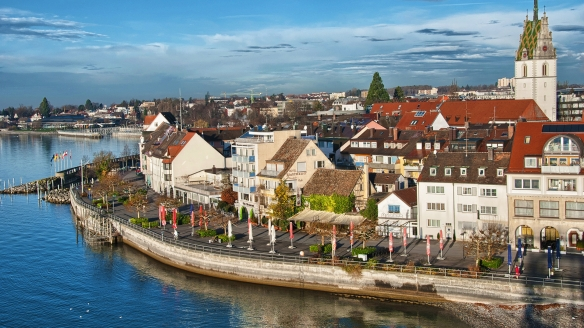 Comfort Hotel Friedrichshafen in Friedrichshafen am Bodensee Luftansicht