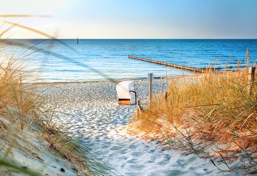 Seehotel Grossherzog von Mecklenburg, Sonnenuntergang über der Ostsee