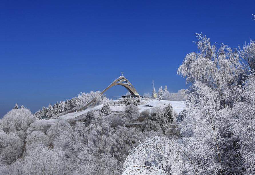 Landgasthof Wüllner in Winterberg-Altenfeld im Sauerland Skisprungschanze