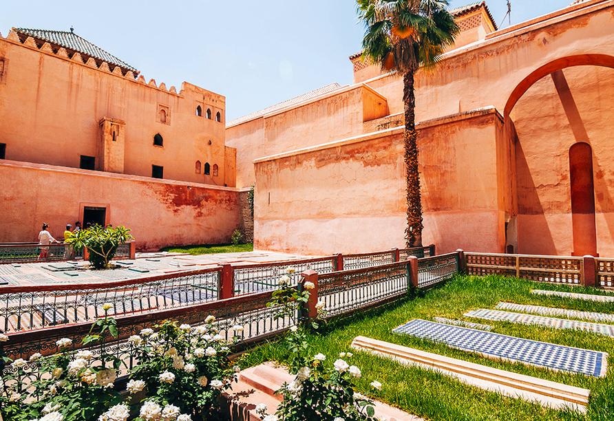 Busrundreise Marokko, Marrakesch, Saadier Gräber