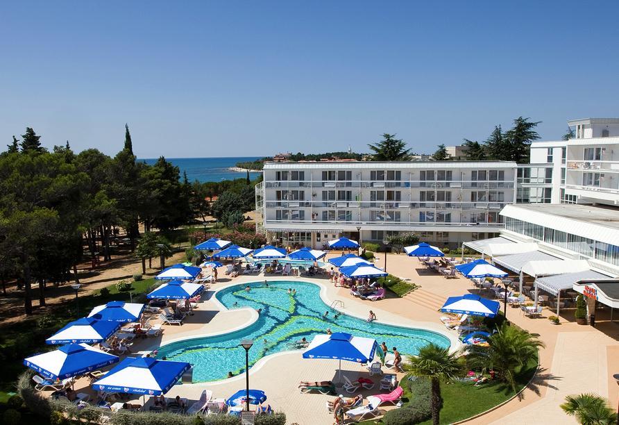 Hotel Aminess Laguna Novigrad Kroatien, Poolanlage