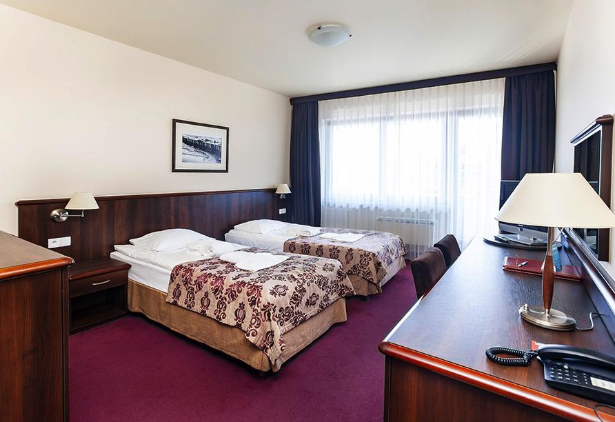 Beispiel eines Doppelzimmers Standard im Hotel Arka Medical SPA