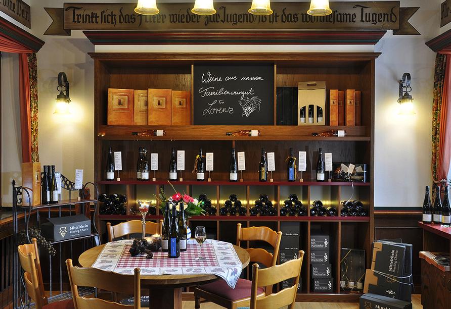 Weinhotel Landsknecht in St. Goar am Rhein, Vinothek