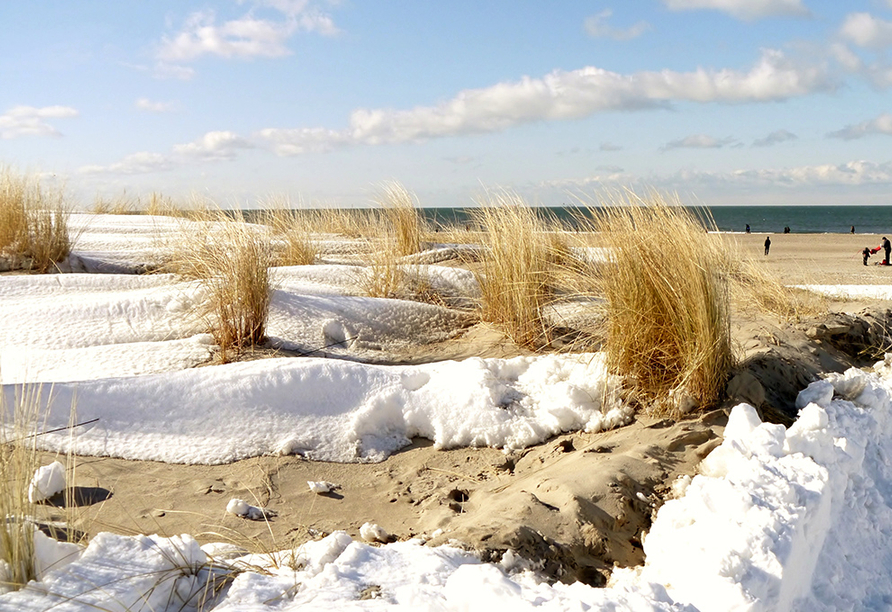 Die Küste im Winter.