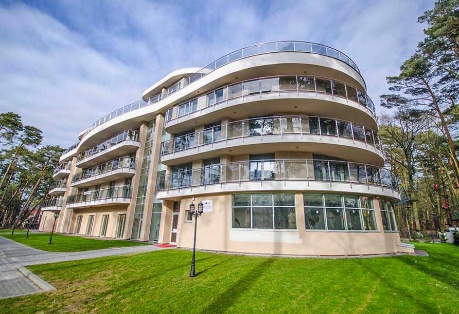 Hotel Grand Kapitan Medi Spa in Henkenhagen, Außenansicht