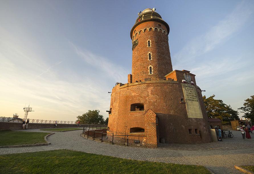 Hotel Venus Spa in Mrzezyno, Polnische Ostsee, Leuchtturm