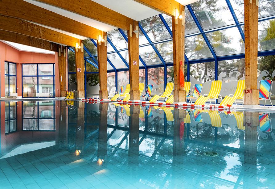 Hotel Venus Spa in Mrzezyno, Polnische Ostsee, Hallenbad