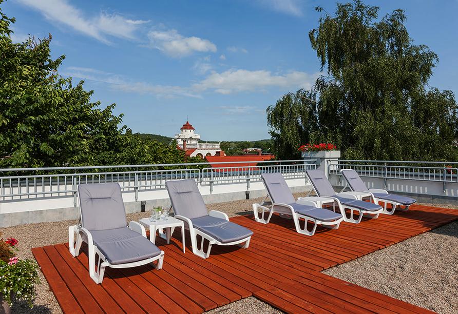Wellness & SPA Residenz Bielik in Misdroy an der polnischen Ostsee Terrasse