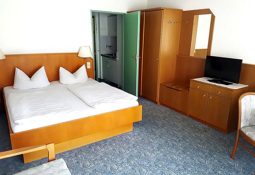 Hotel Almberg in Philippsreut im Bayerischen Wald, Beispiel Doppelzimmer