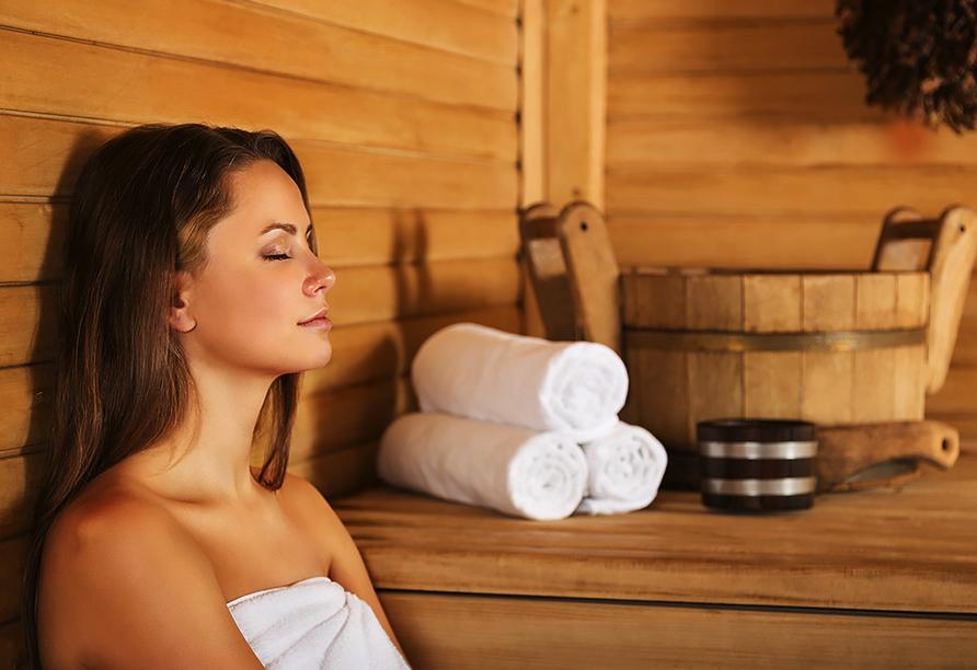 Hotel Almberg in Philippsreut im Bayerischen Wald, Sauna